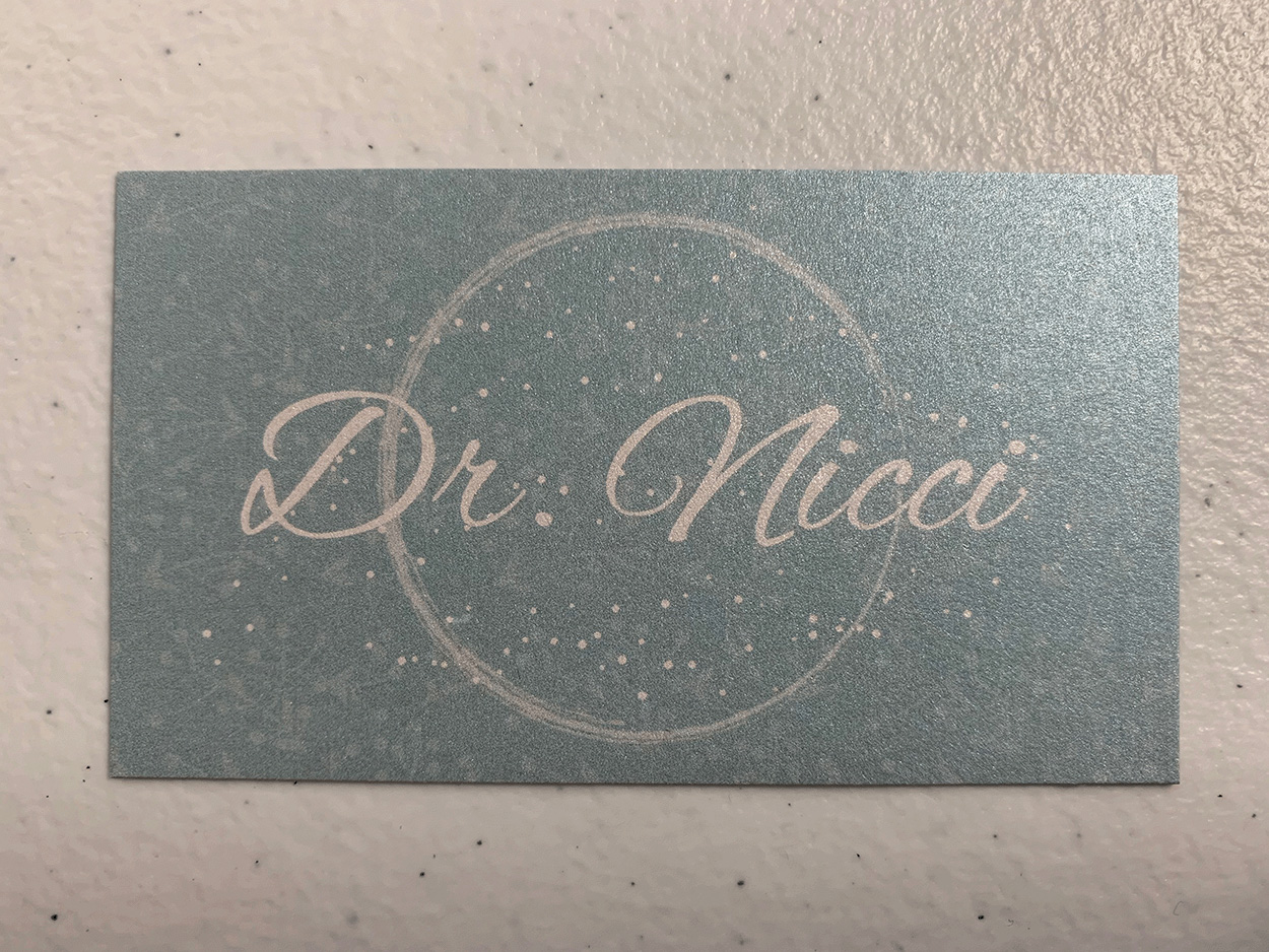 Dr. Nicci Business Card Front