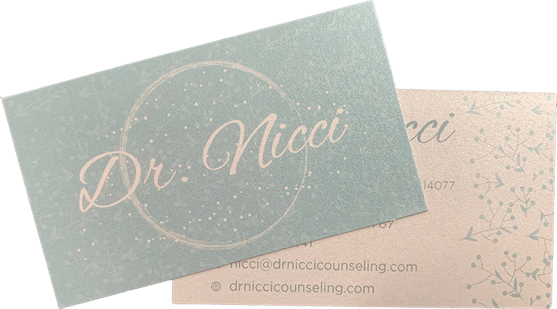 Dr. Nicci Business Cards