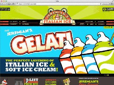 Jeremiah's Italian Ice Website Screenshot