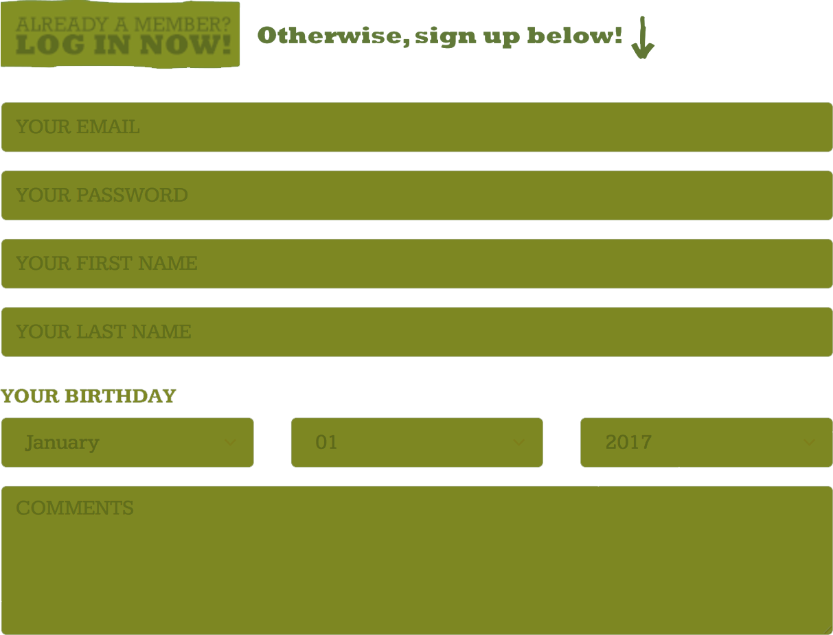 J-List Signup Screenshot