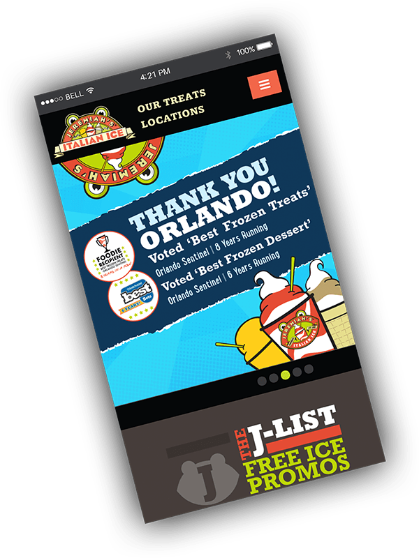 Jeremiah's Italian Ice Mobile Screenshot
