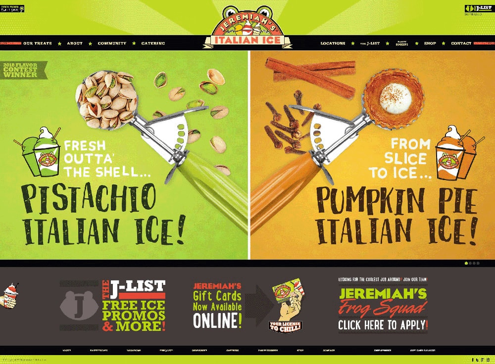 Jeremiah's Italian Ice Website